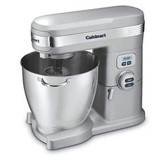 Cuisinart Brushed Chrome Countertop Stand Mixer at Lowe's. Cuisinart just raised the bar on mixing! This Cuisinart Quart Stand Mixer has the capacity, power, and precision engineering to handle any job a Stand Mixer Reviews, Best Stand Mixer, Kitchen Stand Mixers, Kitchen Aid Mixer, Test Kitchen, Kitchen Dining, Kitchen Small, Small Appliances, Kitchen Appliances