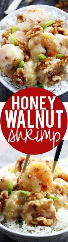 Easy Honey Walnut Shrimp Recipe | Creme de la Crumb