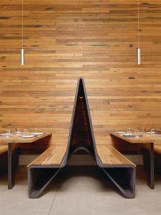bar agricole by aidlin darling :: curved benches