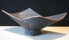 Birthe Flexner, BLACK FOLDED BOWL Ceramic