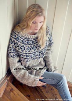 Knitting Patterns Sweaters Free knitting pattern - Norwegian Lopapeysa Sweater pattern by Katrine Hammer Sweater Knitting Patterns, Knitting Charts, Knit Patterns, Free Knitting, Knitting Gauge, Nordic Pullover, Nordic Sweater, Punto Fair Isle, Norwegian Clothing