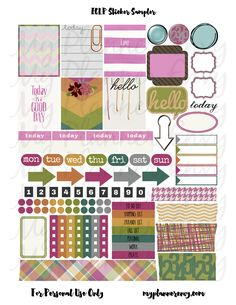 Free Various Colored Sticker Sampler | My Planner Envy