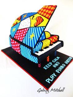 Romero Britto Piano cake
