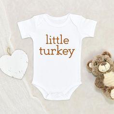 Fall Baby Clothes - Little Turkey Baby Onesie - Cute Fall Clothes - Thanksgiving Baby Onesie - 12 Months