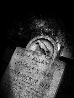 The Conqueror Worm, Dark Poetry, Edgar Allen Poe, Famous Graves, Vincent Price, Graveyards, Reading Material, Criminal Minds, Crows
