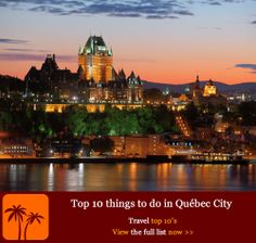 Top 10 things to do in Québec City.   The crown jewel of French Canada, Québec City is often hailed as North America's capital of Joie de Vivre. Founded as a fur-trading post by French explorer Samuel de Champlain in 1608, the 'cradle of New France' is the continent's only walled city north of Mexico. Follow our guide for 10 great things to do in a fairytale-like city that exudes European charm