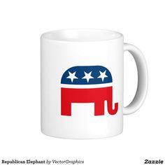 Republican Elephant Classic White Coffee Mug