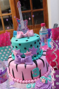 Barbie pop star cake