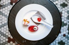 From pastry chef Brian Yurko at the Manhattan Cocktail Classic: Spherical Negroni Negroni Jello with orange air Negroni Marshmallows with Negroni Dust