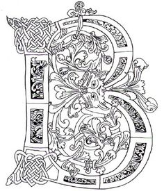 Illuminated Letter B Celtic