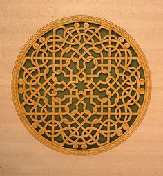 Ervin Somogyi: Knot of Leonardo. Over 1300 cut lines....