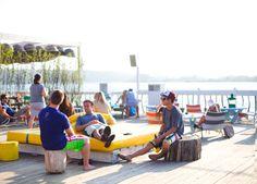 Deck at Surf Lodge Montauk.  Photo: Garance Dore.