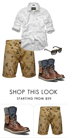 """""""Untitled #1736"""" by stylesbynickey ❤ liked on Polyvore featuring Steve Madden, Jack & Jones, Abercrombie & Fitch, Louis Vuitton, men's fashion and menswear"""