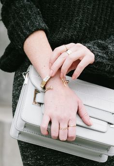 styled by NOIR wearing Katrina Cuff, Hammered Band Ring, and the Baby Pod Ring