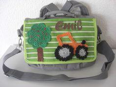 """Kindergartentasche Rucksack """"Traktor"""" mit Namen"""