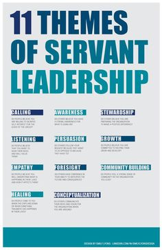 themes of servant leadership. 11 themes of servant leadership. themes of servant leadership. Servant Leadership, Leadership Coaching, Life Coaching, Leadership Activities, Leadership Competencies, Diversity Activities, Nursing Leadership, Change Leadership, Coaching Quotes