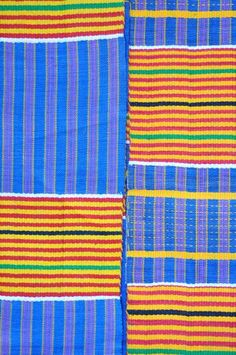 Long Kente strips, cotton, Ghana