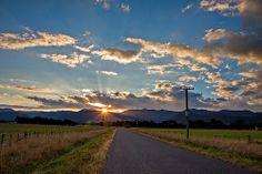140405 sunset over rimutaka range