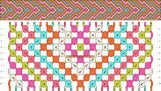 Chevron friendship bracelet pattern number #9897 - For more patterns and inspiration visit our web or the app!