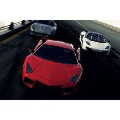http://chicerman.com  majestix:  Which one would you choose?  #majestic_cars #carporn #cargasm #cars #automotive #carswithoutlimits #carinstagram #ikonic_rides #sickcar_mag #lamborghini #reventon #race #mclaren #mp412c #ferrari #599  #cars