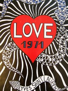 Yves Saint Laurent New Year's card 1971