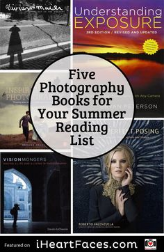 5 Photography Books You Should Read.  #photography #iheartfaces #reading #books