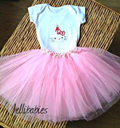 Hello Kitty baby tutu and onesie vest set