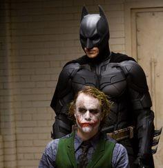 The Dark Knight. Christian Bale/Heath Ledger.
