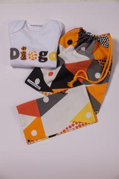 kit regalo Body personalizado+taleguita+portapañal y toallitas #handmade #niños #craft #diy #loaprendidemayor #kids #gift #baby #babies #bebé