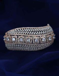Browse unique range in American diamond bracelet online for women at best price by Anuradha Art Jewellery. Get beautiful collection in designer bracelet, bangle bracelet & tennis bracelets. Gold Bangles For Women, Gold Bangles Design, Emerald Jewelry, Emerald Bracelet, Jewelry Art, Jewelry Design, American Diamond Jewellery, Indian Jewelry Sets, Bridal Bangles