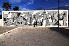 "Sten & Lex in Gibellina, Sicily, Italy - ""Varco"" - street art"