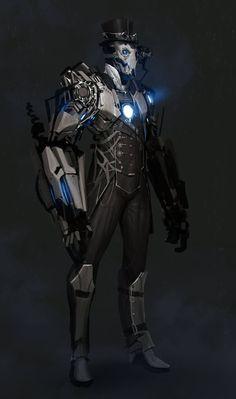 Steampunk Iron Man By Anthony Jones: Iron Man Kunst, Iron Man Art, Concept Art World, Robot Concept Art, Game Concept, Character Concept, Character Art, Character Inspiration, Writing Inspiration