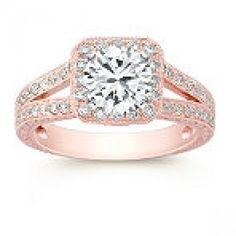 Vintage Engagement Rings Rose gold. i usually dont like this style, but holy crap this is amazing!!