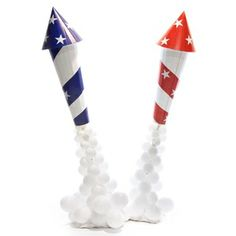 Patriotic Rockets Parade Float Kit (set of 2)