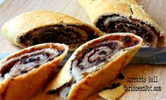 A recipe from Trinidad and Tobago for making a wonderful dessert called currants roll. Well start off by making a flaky crust to w 11395 - Healthy Food Network Carribean Food, Caribbean Recipes, Currants Roll Recipe, Barbados, Trinidadian Recipes, Guyanese Recipes, Food Network Recipes, Cooking Recipes, Rice Recipes