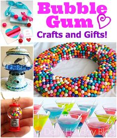 Bubble Gum crafts and gifts. Fun ideas!