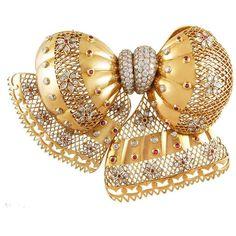 Van Cleef & Arpels Ruby, Diamond & Gold Brooch 1