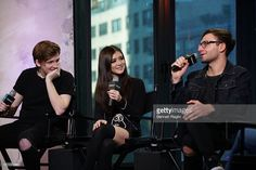 Dan Gow, Chrissy Costanza, and Will Ferri of Against the Current attends the Build Series at AOL HQ on November 4, 2016 in New York City.