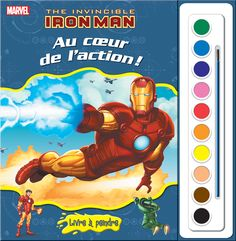 Phidal : Livres à peindre - Marvel Iron Man - 2-7643-2539-8 Iron Man, Comic Books, Marvel, Comics, Movie Posters, Art, Livres, Craft Art, Iron Men
