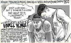 """Despite being crushed by D-Will, Jeremy Lin has nothing to worry about. Carmelo Anthony will get blamed for this putrid effort. #Linspiracy"" - tweet from @NotBillWalton http://myknicksjournal.blogspot.com/2012/02/three-venge.html"