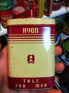 vintage avon talc packaging