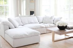 I have received so many inquiries on where our sofa/sectional is from so I thought I would write a post and share our opinions on it. Living Room Sofa, Home Living Room, Living Room Designs, Living Room Decor, Living Room Seating, Bedroom Couch, Dining Rooms, Comfy Sofa, Comfortable Sofa