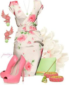 >>>Cheap Sale OFF! >>>Visit>> pink and green outfit sorority meeting? Green Fashion, Look Fashion, Spring Fashion, Womens Fashion, Classy Outfits, Beautiful Outfits, Brunch Outfit, Looks Chic, Mode Outfits