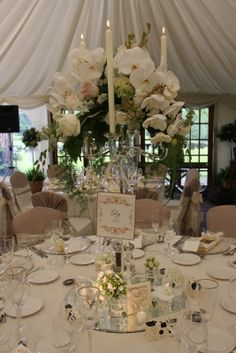 So the final part of this wonderously luscious and opulent wedding day, the ceremony is on our previous posting so if you're joining the st. Phalaenopsis Orchid, Orchids, Wedding Reception, Wedding Day, Crystal Candelabra, Astrantia, Wedding Decorations, Table Decorations, Sweet Peas