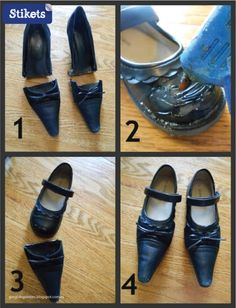 Cómo hacer un disfraz de bruja.Zapatos paso a paso