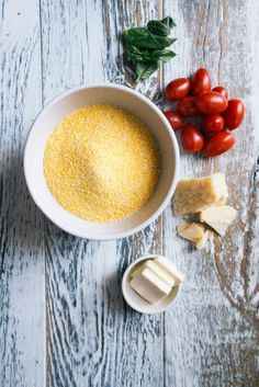 A CUP OF JO: Parmesan Grits with Roasted Tomatoes and Basil