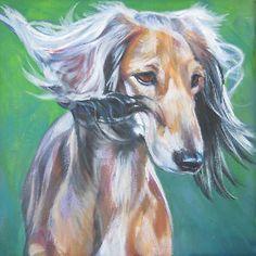 Saluki-12x12-canvas-PRINT-painting-dog-LSHEP-sighthound