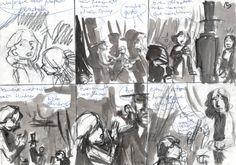 Story-board 03: Lápiz Conté, bolígrafo y agudas de tinta sobre papel folio 100 gr. reciclado. 25€ David Belmonte ©