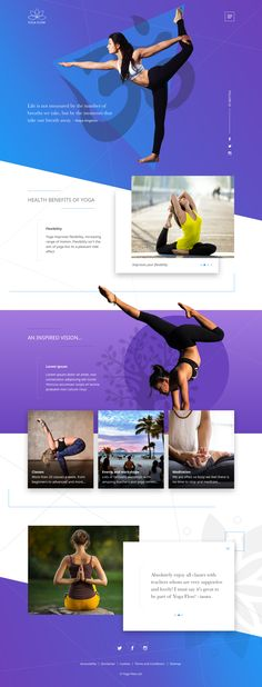 Yoga web landing page design idea
