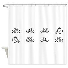 Bicycles Shower Curtain for